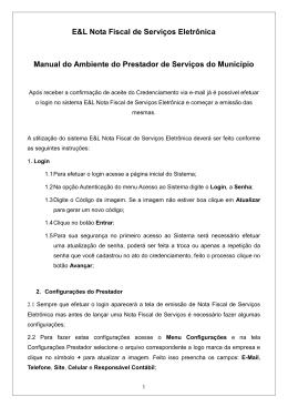 Manual do Ambiente do Prestador de Serviços do Município