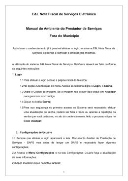 Manual do Ambiente do Prestador de Serviços Fora do Município