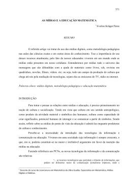 571 AS MÍDIAS E A EDUCAÇÃO MATEMÁTICA Evelize