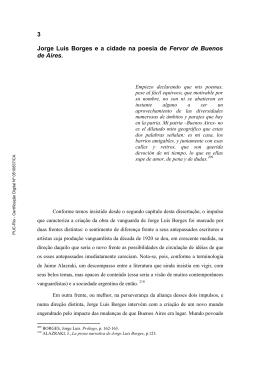 3 Jorge Luis Borges e a cidade na poesia de Fervor de