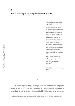 3 Jorge Luis Borges e o vanguardismo entusisasta. - Maxwell