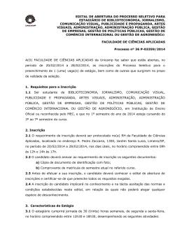 EDITAL DE ABERTURA DO PROCESSO SELETIVO