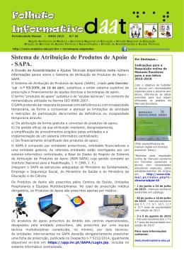 Folheto Informativo - Secretaria Regional Educação Recursos