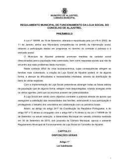 NORMAS MUNICIPAIS - Município de Aljustrel
