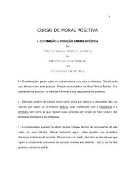 CURSO DE MORAL POSITIVA