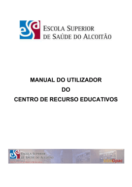 Manual do Utilizador - Escola Superior de Saúde do Alcoitão