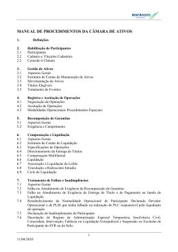 CAPÍTULO I - HABILITAÇÃO DE PARTICIPANTES