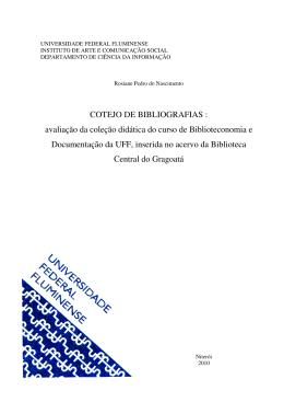 COTEJO DE BIBLIOGRAFIAS : avaliação da coleção didática
