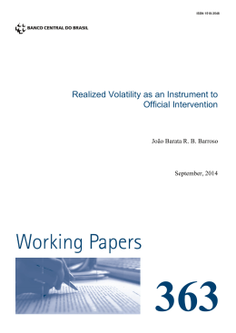 Realized Volatility as an Instrument to Official Intervention