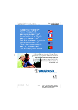INTERSTIM THERAPY Patient Therapy Guide THÉRAPIE