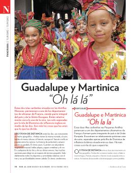 "Guadalupe y Martinica ""Oh lá lá"""