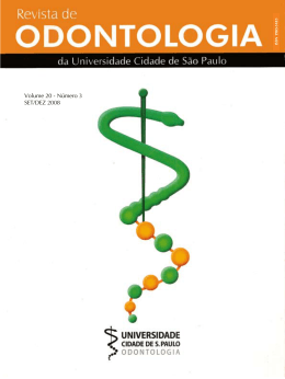 pdf - revista de odontologia da unicid