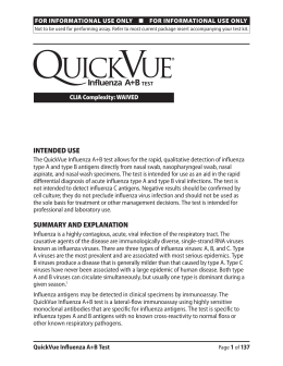 QuickVue Infuenza A and B Test