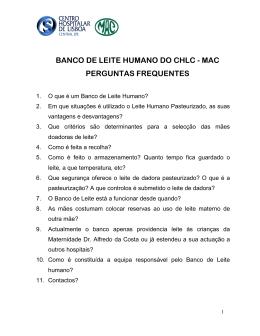 Banco de Leite Humano - Centro Hospitalar de Lisboa Central, EPE
