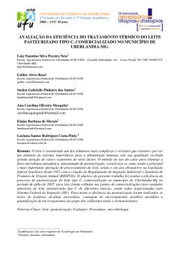 avaliação da eficiência do tratamento térmico do leite pasteurizado