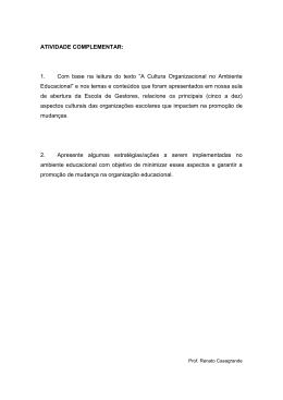 """ATIVIDADE COMPLEMENTAR: 1. Com base na leitura do texto """"A"""