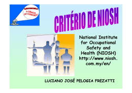 Levantamento Manual de Cargas NIOSH