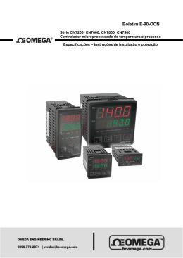 Série CN7200, CN7600, CN7800, CN7500 Manual