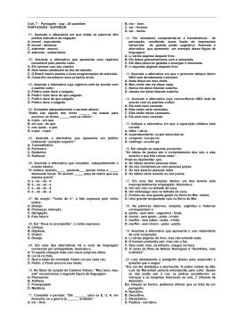 Cod. 7 - Português - sup - 20 questões