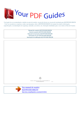 Manual de instruções KENWOOD BM250