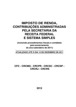 Imposto de renda, contribuições administradas pela Secretaria