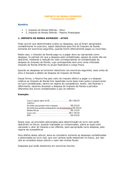Imposto de Renda Diferido - LGN » Organização Contábil