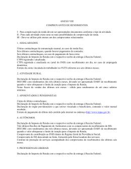 ANEXO VIII COMPROVANTES DE RENDIMENTOS I