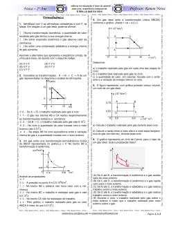 acadêmico – 2º ano – física – lista de termodinâmica