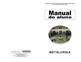 METALURGIA - Etec Dona Escolástica Rosa
