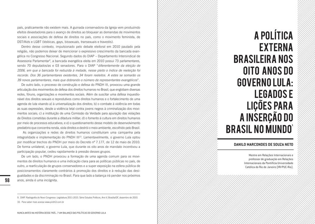 c9ed4d76c2 A politica externa brasileira nos oito anos do governo Lula  Legados
