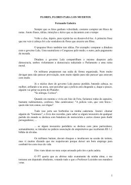 I FLORES, FLORES PARA LOS MUERTOS Fernando Gabeira