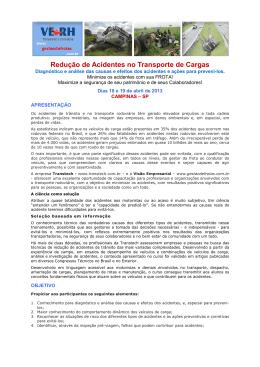 Redução de Acidentes no Transporte de Cargas