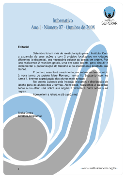 Informativo 07 – Outubro de 2008