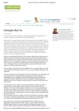 Geração dos 70 - Madeira de Uz