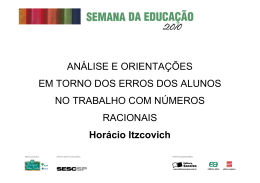 Leia a apresentação de slides usada por Horácio Itzcovich na