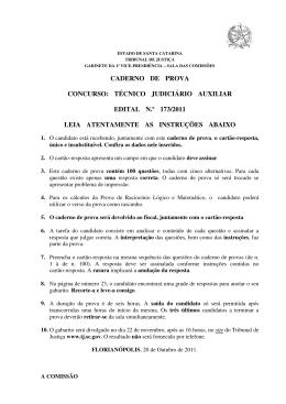 Prova - Tribunal de Justiça de Santa Catarina