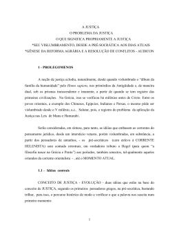 o problema da justiça - ABDA - Associação Brasileira de Direito