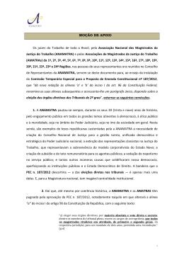 MOÇÃO DE APOIO Os juízes do Trabalho de todo o Brasil, pela