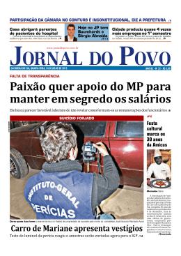 Paixão quer apoio do MP para manter em segredo