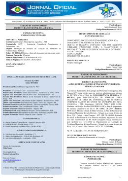 Mato Grosso , 07 de Março de 2014 • Jornal Oficial Eletrônico dos