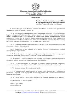 823 - Câmara Municipal de Rio Brilhante