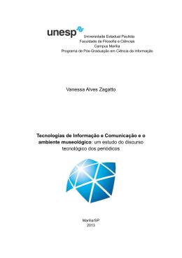 Vanessa Alves Zagatto Tecnologias de Informação e Comunicação