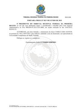 CAMILE LIMA SANTOS - Tribunal Regional Federal da 1ª Região
