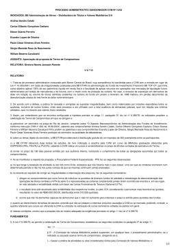 PROCESSO ADMINISTRATIVO SANCIONADOR CVM Nº 12/03