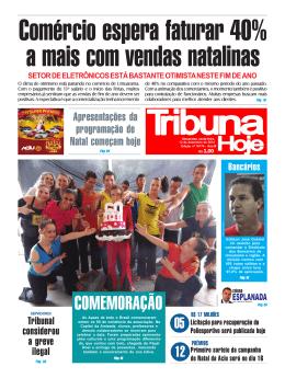 COMEMORAÇÃO - Jornal Tribuna Hoje