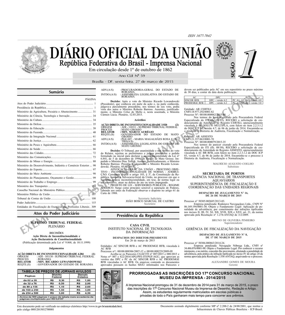 f8de0d5077 exemplar de assinante da imprensa nacional