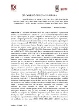 PRÓ-PARKINSON: MEDICINA (NEUROLOGIA) Lucas Alves