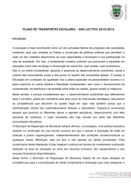 PLANO DE TRANSPORTES ESCOLARES