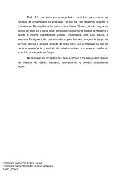 Professor Guilherme Ehlers Farias Professor Mário