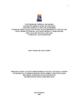 MINISTERIO DAEDUCAÇÃO - Ministério da Educação